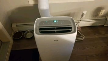 10 000 BTU . TCL air conditioner bought this last summer for 500 cash