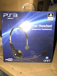 black and blue Sony PS4 wireless headset box