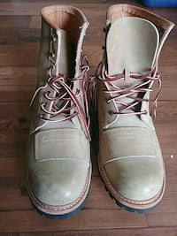 pair of gray leather work boots Denver, 80238
