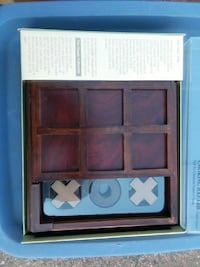 Tic-tac-toe wooden game boxed District Heights, 20747
