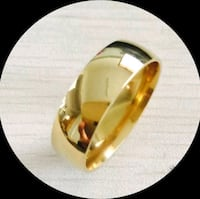 Steel ring. Gold plated. Sizes 8. 9. Montréal, H3N 2A6