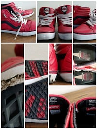 RARE Red Leather Christian Hosoi Sk8 Hi Austin, 78702