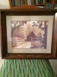 brown wooden framed painting of house Wellington, 33414
