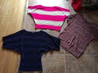 Three sweaters size medium $10 for the 3