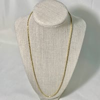 Vintage 14k Yellow Gold Rope Chain