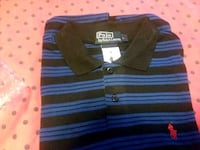 blue and black striped polo shirt Marrero, 70072