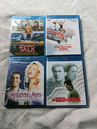 4 Sealed Blue Ray Movies Classics Orange, 92865