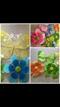 green, blue, and yellow flower decor 50 km