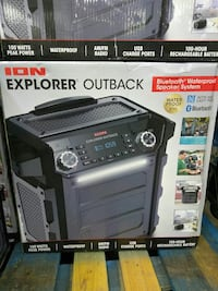 black and gray ION Explorer outback speaker system box Campobello, 29322