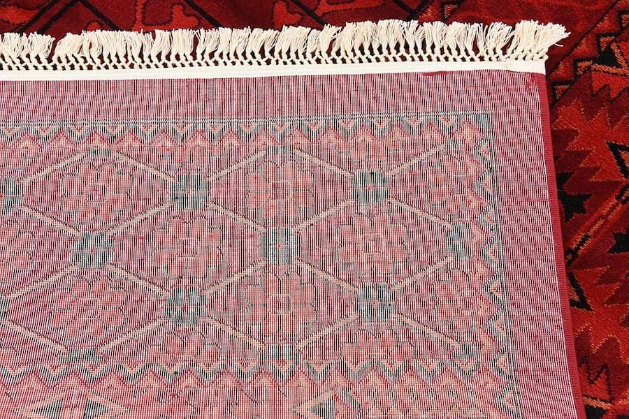 new Bokhara design area rug size 8x11 nice red carpet Persian style a0325c89-3b25-4b9d-a442-863206f00b83