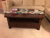 Brown wooden 2-drawer coffee table Falls Church, 22041