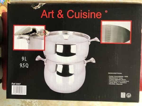 Art & Cuisine Chaudron Stainless Steel Couscous Steamer and Lid Set