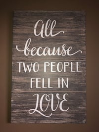 black and white wooden quote board Gladys, 24554
