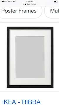 IKEA black wall hanging picture frame. OBO Vancouver, V5X
