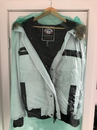 Pajar White Winter Downfill Jacket with Fur Trim Hood! MONTREAL