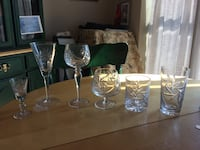 Pinwheel design crystal stemware and other matching items Toronto, M5A 1S7