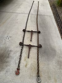 14' chains with ratchet boomers  $55.00 OBO Albuquerque