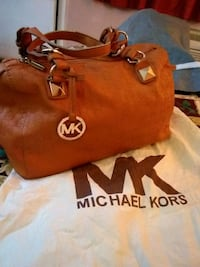 women's brown leather Michael Kors tote bag San Antonio, 78209