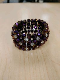 Bracelet Purple Ravens Spirit Rhinestone Sparkly Jewelry Football