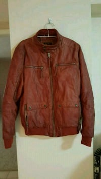 brown leather zip-up jacket Burnaby, V5H