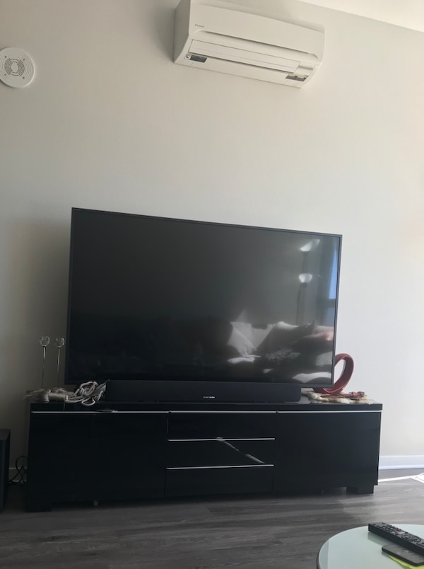 Used 65 Sony Tv Black Silver Tv Stand For Sale In סן חוזה Letgo