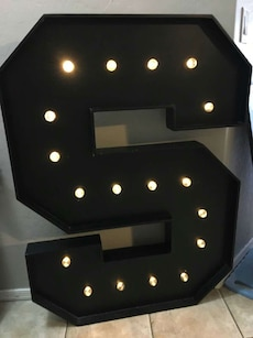 "Extra large letter ""S"""