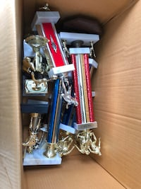 Used Trophies 2 dollars each. I have Baseball, Soccer, Basketball. All good condition. Use for Crafts , or Target practice. All different sizes . I have 45-50 left will make a deal if you want all !!! Shaler, 15116