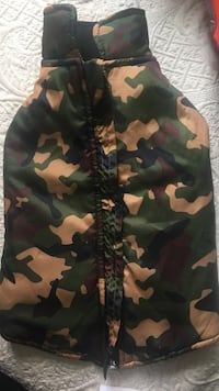 Green, black, and brown camouflage dog jacket Arlington, 22209