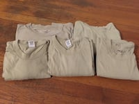 5 beige T-shirt's, men's size large Shreveport, 71104