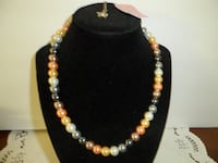 black and yellow beaded necklace FREDERICK