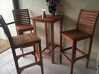 Teak  table and 3 chairs - new minimally used , just moved need a larger set. Very nice quality Jensen Beach, 34957
