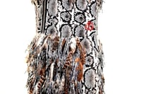 Moncler Python Print Feather Detail Zip Samantha Vest Size 1/Small $5395.00 HUNTINGTON