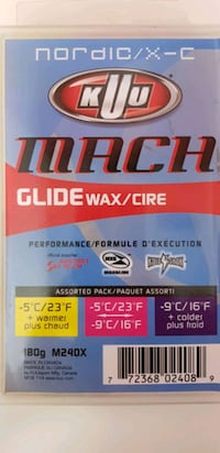 Kuu Mach Nordic 3-Temperature Glidewax never opened  Vancouver, V5V 4K1