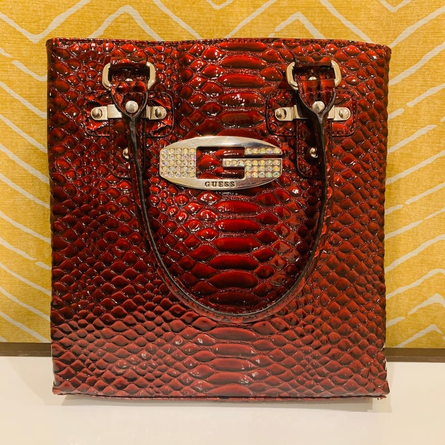 GUESS- Red/ Burgundy purse