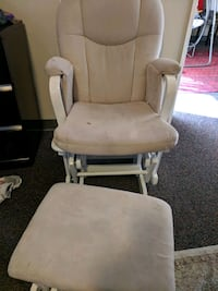 white and brown glider chair Irvine, 92617
