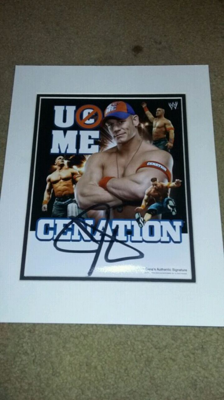 Used, John Cena signed poster for sale  Pittsburgh