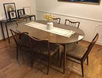 Mid century table with glass top Houston, 77042