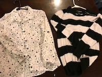 two black and white long-sleeved shirts Ashville, 43103