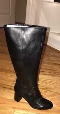 Nine West leather wide calf boots size 11 Upper Marlboro, 20774