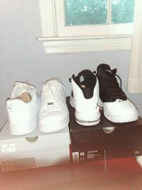 Black and white air jordans and white 1 Cherry Hill, 08002