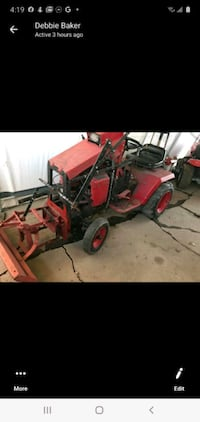 Tractor with plow (SALE OR TRADE)