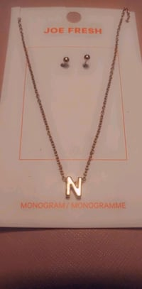 N Necklace with studs