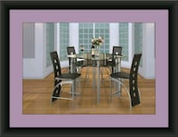 Counter height glass dining table with 4 chairs Bowie, 20720