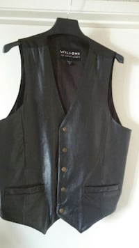 A Wilson Black Leather Vest And Jacket Combination Palm Springs, 92262