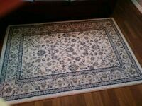 white and blue floral area rug Calgary, T1Y 2W6