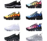 six pairs of Nike basketball shoes null