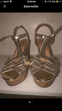 pair of brown leather open-toe ankle strap sandals Sacramento, 95833
