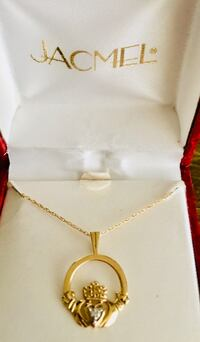 Claddagh Diamond Pendant 10K Gold Ashland, 44805