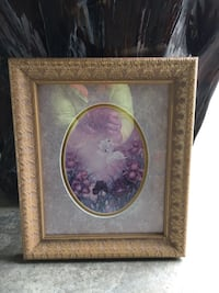 Brown wooden framed painting of flowers Richmond Hill, L4E 4Y6