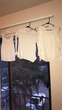 Girls White shirts size 8-10 long sleeve, short sleeve and tank top North Augusta, 29841